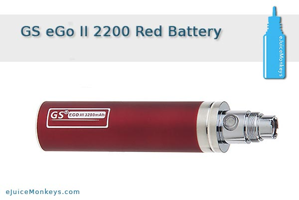 GS eGo II 2200mAh Battery - Red