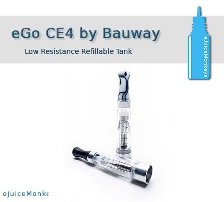 eGo Low Resistance CE4 Stainless - Bauway