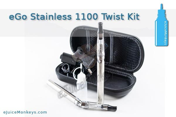 eGo 1100 Twist Cloud Kit - Stainless - Click Image to Close