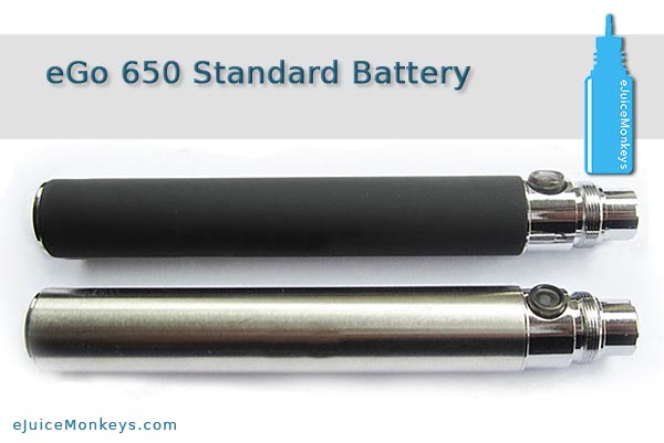 eGo 650mAh Battery - Stainless