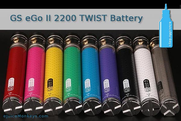 GS eGo TWIST II 2200mAh Battery - Black