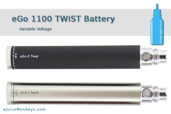eGo TWIST 1100mAh Battery - Black