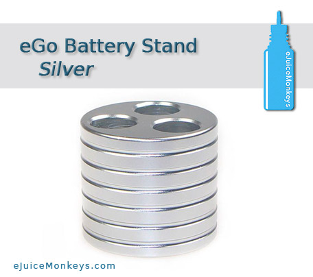 eGo Battery Stand - Silver