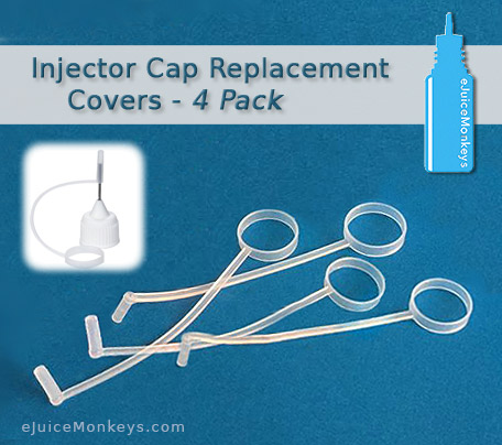 Injector Cap Replacement Covers - 4 Pack