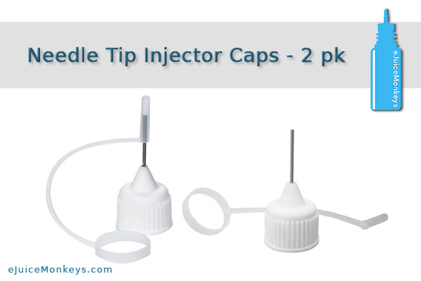 Needle Tip / Injector Cap for Bottles - 2 Pack